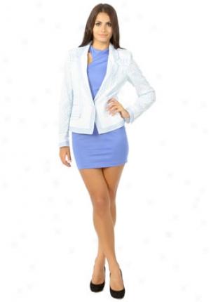 Roberto Cavalli Light Blue Silk Floral Print Jacket Ja-ldt400xrh62-b44