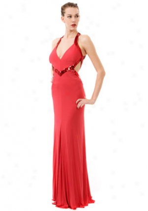 Roberto Cavalli Red Long Dress Dr-ltr164je-rd42