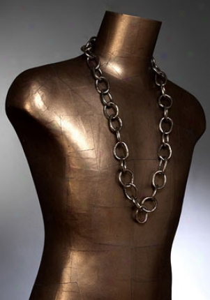 Rock & Bone Women's New York Gunmetal Interlocking Chain Necklace Rbn4104