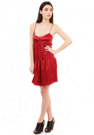Rory Beca Red Silk Sleeveless Dresd Dr-360274-or-4