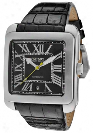 Rotary Men's Editions Automatic Black Leather 700c