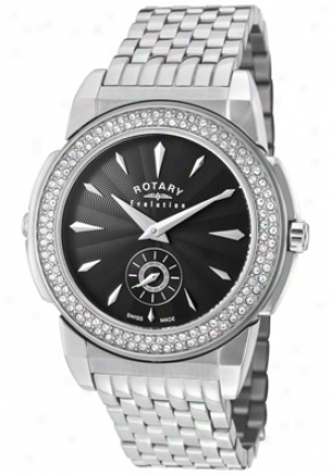 Rotary Women's Evolution Tz2 Reversible White Crystal Stainless Steel Elb0009-tz2-21-04