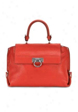 Slavatore Ferragamo Red Stock Sophia Leather Top Handle Handbag A896-466801-red