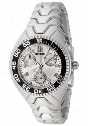 Sector Women's 185 Chronograph Silver Dial Aluminum R3253985605