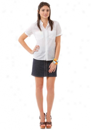 See By Chloe White Short Sleeve Blouse Wtp-lc50000t49-wht-40