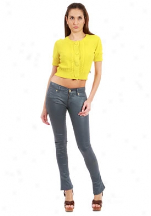 See By Chloe Yellow Cropped Cardigan Wtp-960096