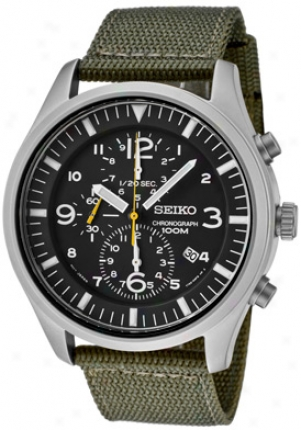 Seiko Men's Chronograph Green Manufactured cloth Snda277p1