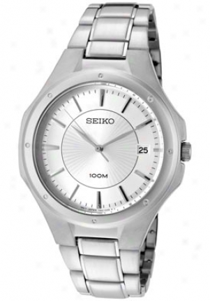 Seiko Men's Silvery Dial Stainless Steel Sgef59p1