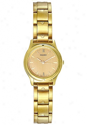 Seikoo Women's Ladies Tone Watch Gold Sfr850