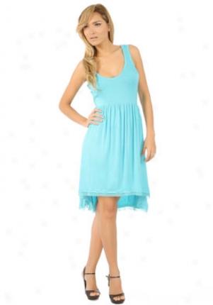 Seven7 Blue Curved Waist Dress Dr-7j6006-blueice-s