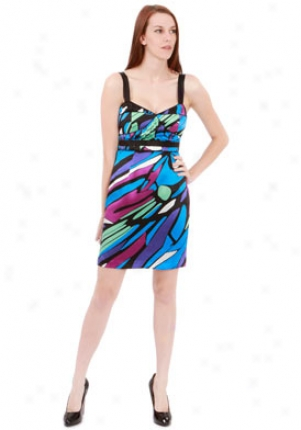 Sophia Eugene Multicolor Silk Charm Jenna Dress Dr-180024