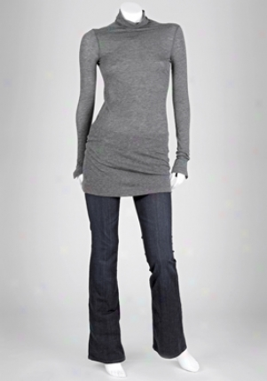 Splendid Heather Grey Turtleneck Dress Dr-sdwf2773-heat-m