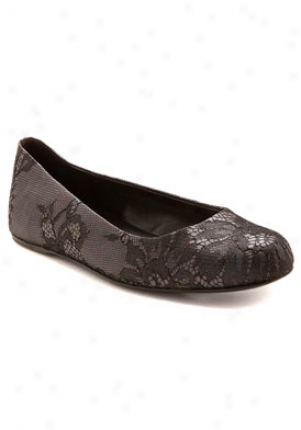 Stella Mccartney Black Graphite Lace Flats 229635-w0jq1-grey-41