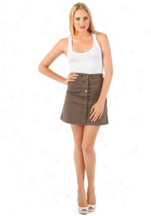 Stella Mccartney Dark Green A-lined Skirt Wbt-240036sv424-bei-25