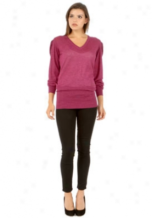 Stella Mccartney Purple Cashmere Long Sleeve Top Wtp-222172-s4036-pu-42