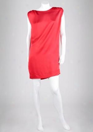 Stella Mccartney Red Silk-satin Prepare Dr-228284-su205-red-44