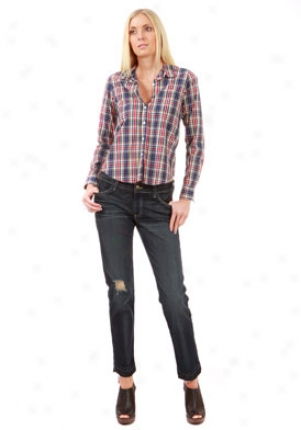 Steven Alan Red, Yellow And Blue Plaid Shirt Wtp-wst03ct-l
