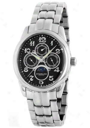 Stuhrling Original Men's Aviator Calendar Quartz 173b.33111