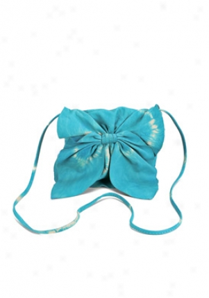 Susan Farber Aqua Leather Envelope Bag 00204004-aq-os