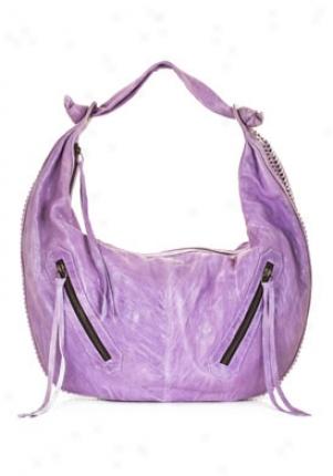 Susan Farber Kingston Lilac Leather Hobo Bag 204008