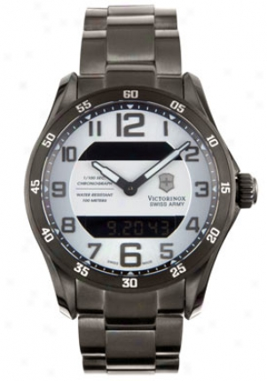 Swiss Army Men's Classic Multi-function Gunmetal Stainless Steeo 231301