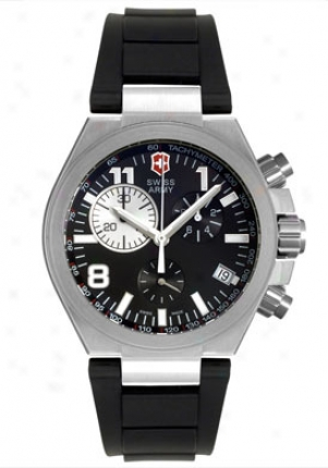 Swiss Army Men's Convoy Chronograph Black Rubber 241157