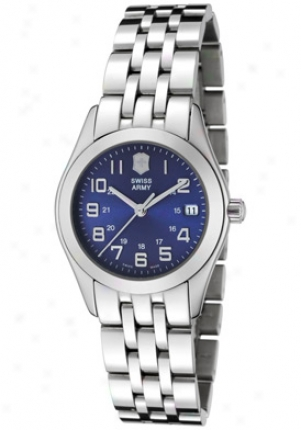 Swiss Army Women's Alliance Blue Dial Stainless Steel 24662