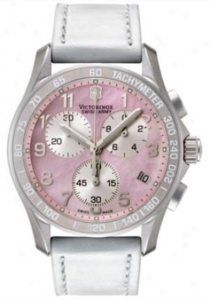 Swiss Army Women's Classic Chronograph White Leather 241257