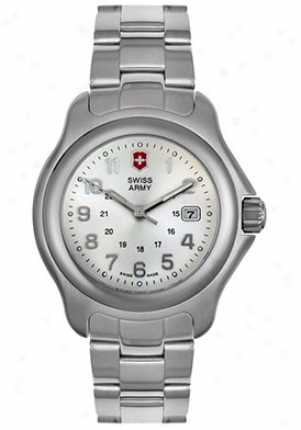 Swiss Army Women's Officer's 1884 Stainless Steel Silver Diial 24705