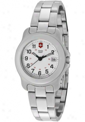 Swiss Army Women's Officer's 1884 White Dial Stainless Steel 24212