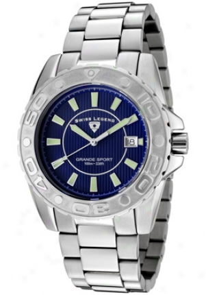 Swiss Legend Men's Grande Sport Blue Dial Staihless Steel 9100-33