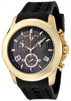 Swiss Legend Men's Monte Carlo Chronograph Black Rjbber 40042-yg-01
