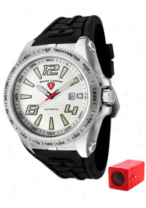 Swiss Legend Men's Sprint Racer Automatic Black Rubber 80040a-02s-w