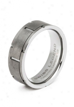 Swiss Legend Meen's Tungsten Carbide Ring Lgmrt1607-10