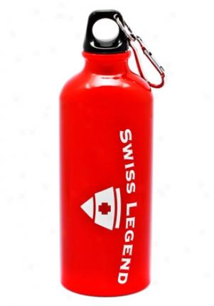 Swiss Legend Red Alumini Water Bottle W/carabiner Clip 16.0 Oz Waterbottle-red