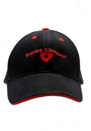 Swiss Legend Swiss Fable Black Cap W/ Red Logo Bkbk