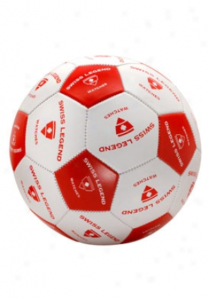 Swiss Legend Swiss Fable Red And White Soccer Ball Soccerball