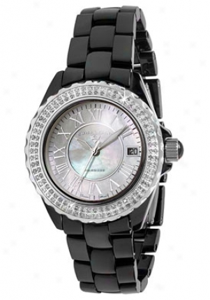 Swiss Legend Women's Karamica Diamond White Mother Of Pearl 20051-wbkwsr