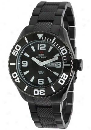 Swiss Precimax Mens Deep Blue Black Stainless Steel Black Dial Sp12004