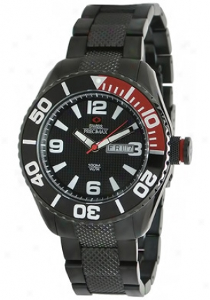 Swiss Precimax Men's Deep Blue Black Stainless Steel Black Dkal Sp12006