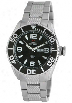 Swiss Precimax Men's Deep Blue Silver Stainless Steei Black Dial Sp12001