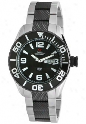 Swiss Precimax Men's Deep Livid Two Tone Stainless Steel Black Dial Sp12005