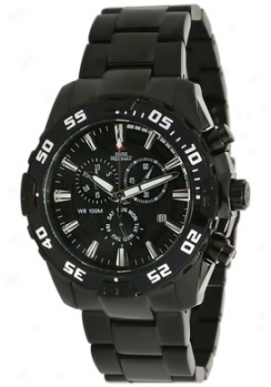 Swiss Precimax Men's Formula-7 Pro Silver Stainless Steel Chronogtaph Black Dial Sp12061