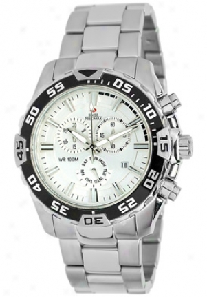 Swiss Precimax Men's Formula-7 Pro Silver Stainless Knife Chronograph Silver Dial Sp12059