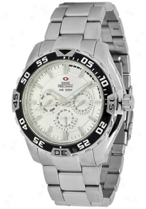 Swiss Precimax Mens Formula-7 Xt Silber Stainless Steel Swiss Multi-function Silver Dial Sp12047