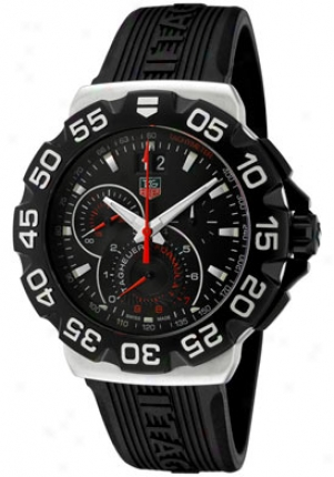 Tag Heuer Men's Formula 1 Chronograph Black Dial Black Rubber Cah1010.ft6026