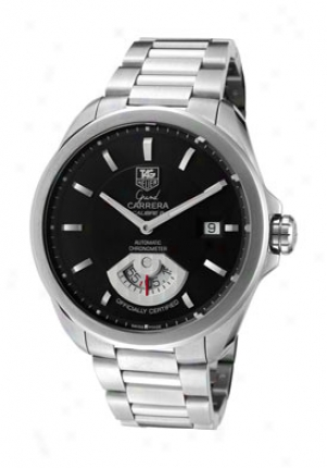 Tag Heuer Men's Grand Carrera Automatic Black Dial Stainless Steel Wav511a.ba0900