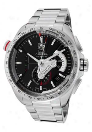 Tag Heuer Men's Grand Carrera Self-moving Chronometer Caliper Chrono Black Dial Stainless Case-harden Cav5115.ba0902