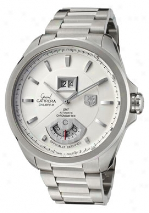 Tag Heuer Men's Grand Carrera Light Silver Dial Stainless Armor Wav5112.ba0901