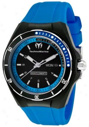 Technomarine Cruise Sport Black Dila Blue Silicone 111018
